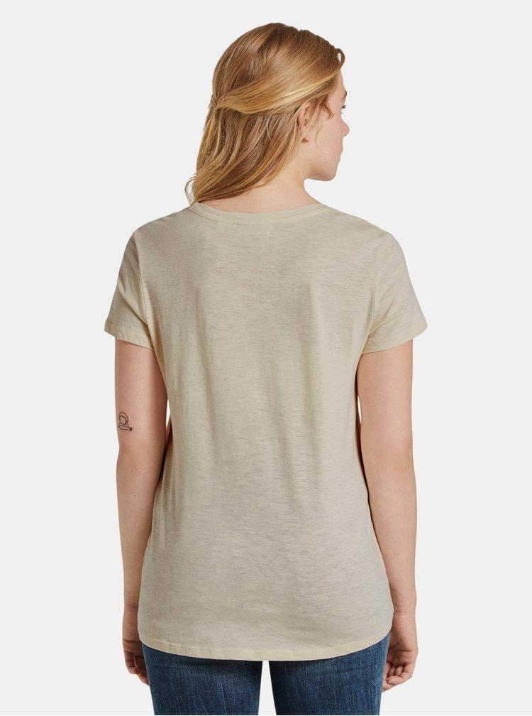 Béžové dámské tričko Tom Tailor Denim