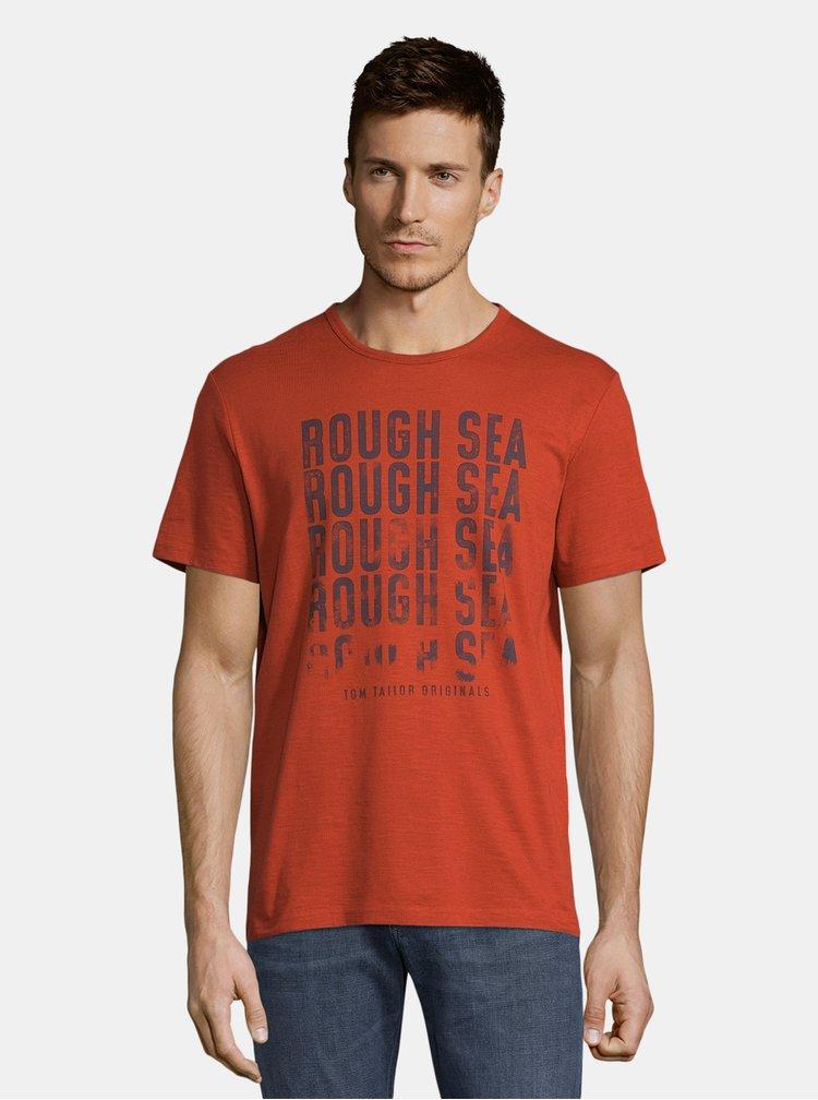 Tricouri pentru barbati Tom Tailor - rosu