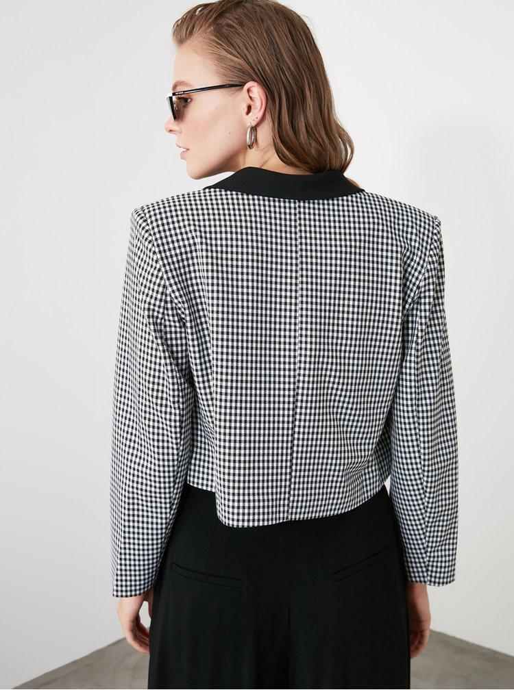 Sacouri si blazere pentru femei Trendyol - alb, negru