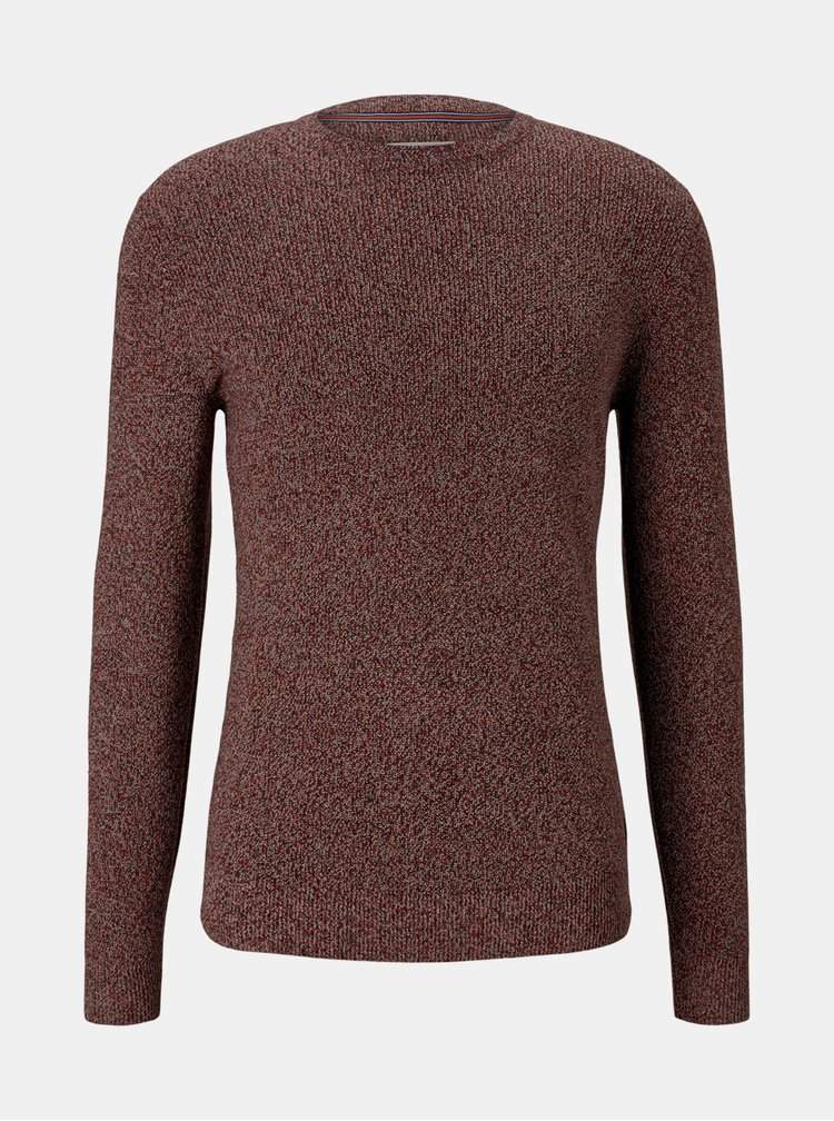 Vínový pánský svetr Tom Tailor