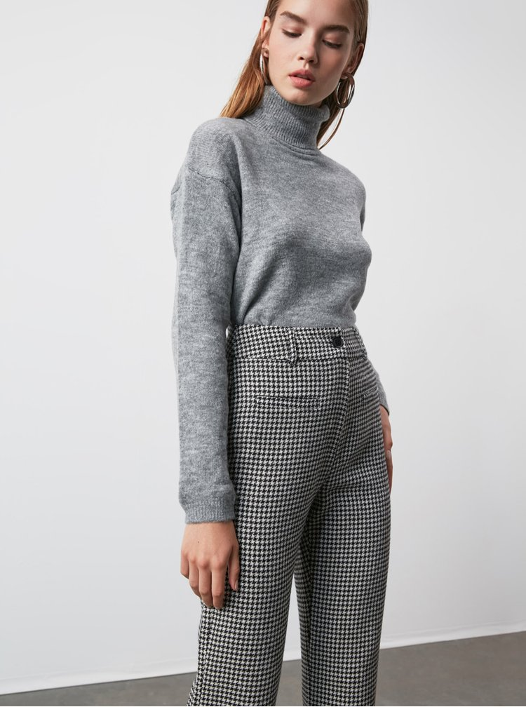 Pantaloni chino pentru femei Trendyol - gri