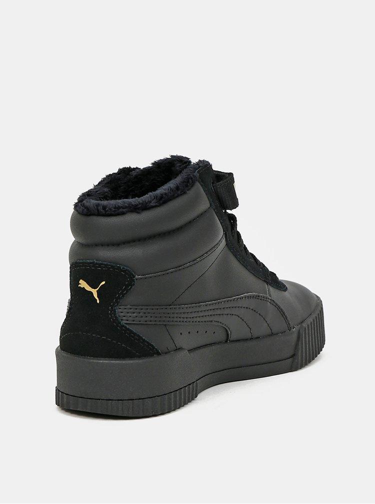 Černé dámské zimní tenisky Puma