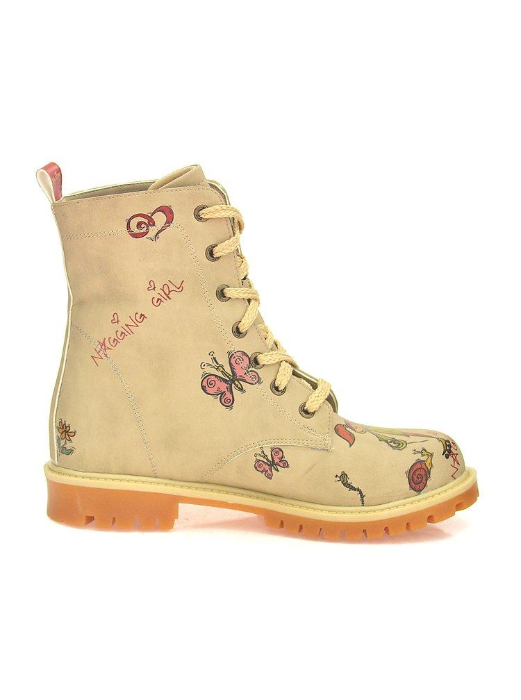 Goby béžové boty Nagging Girl