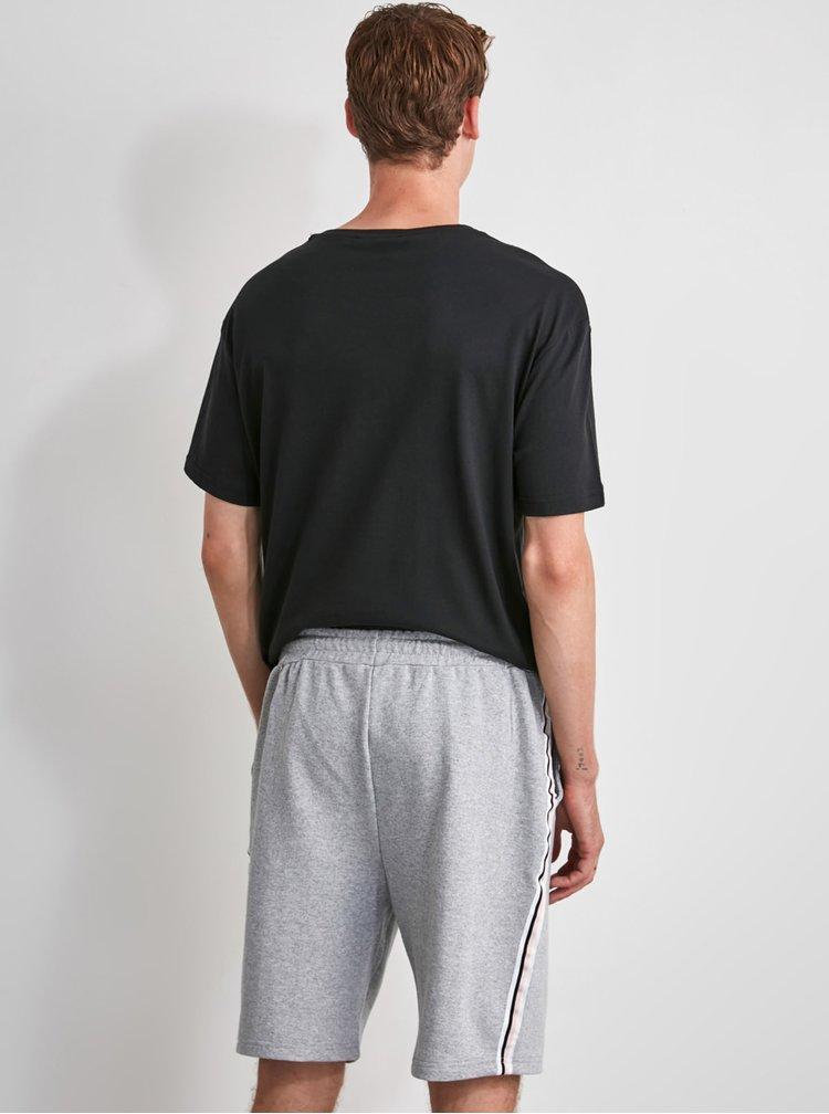 Šedé pánské pyžamové kraťasy Trendyol