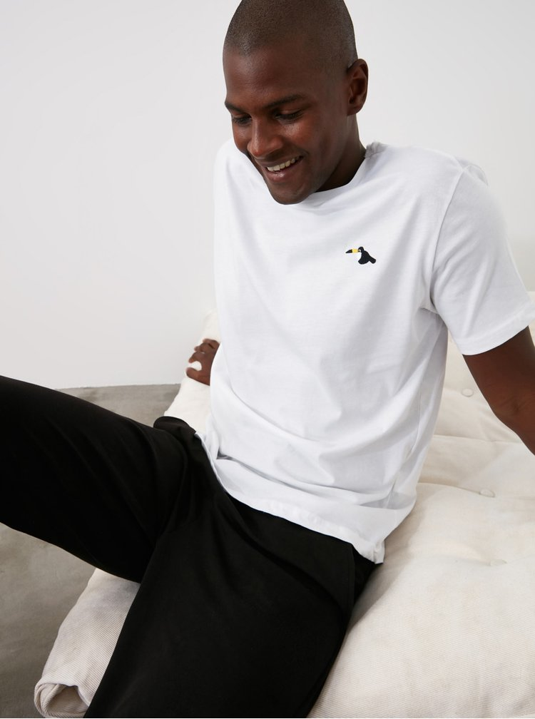 Tricouri pentru barbati Trendyol - alb