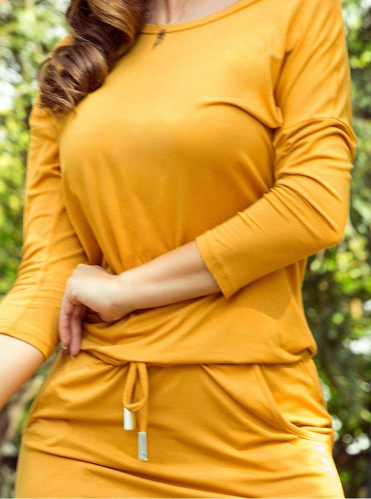 Hořčicové šaty numoco
