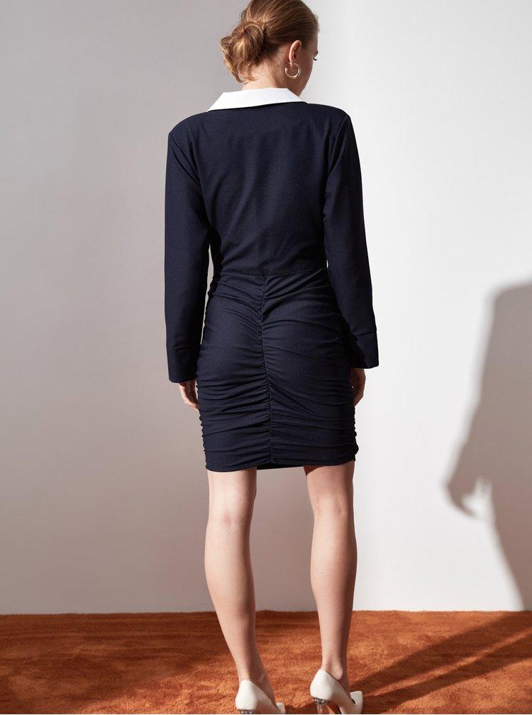 Rochii pentru serviciu pentru femei Trendyol - albastru inchis