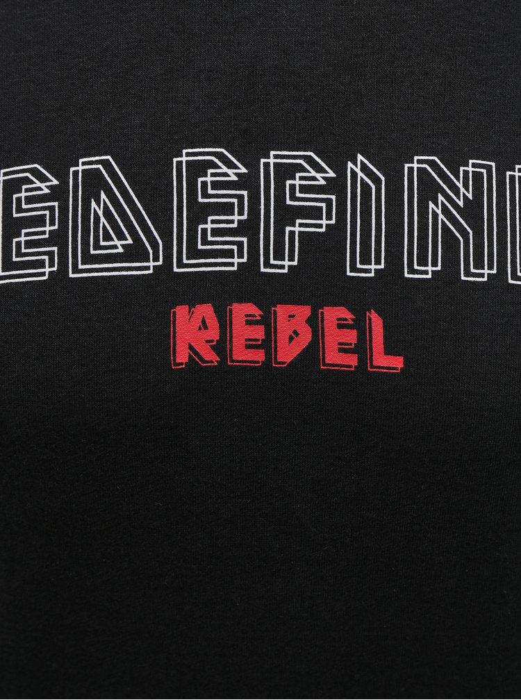 Černá mikina s kapucí Redefined Rebel