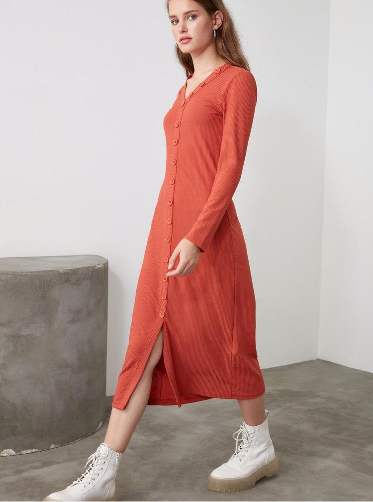 Rochii casual pentru femei Trendyol - caramiziu