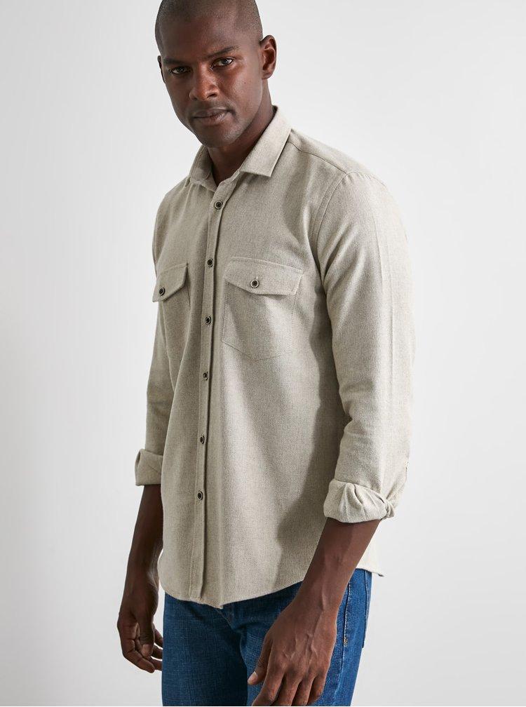 Camasi casual pentru barbati Trendyol - crem
