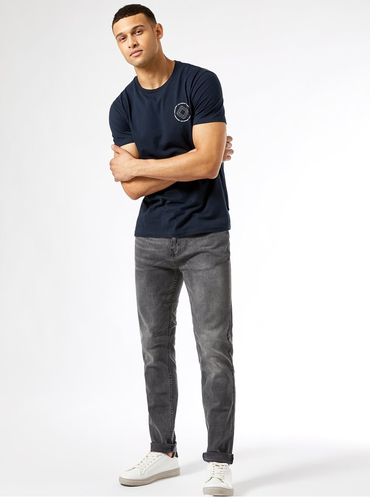 Tricouri pentru barbati Burton Menswear London - albastru inchis