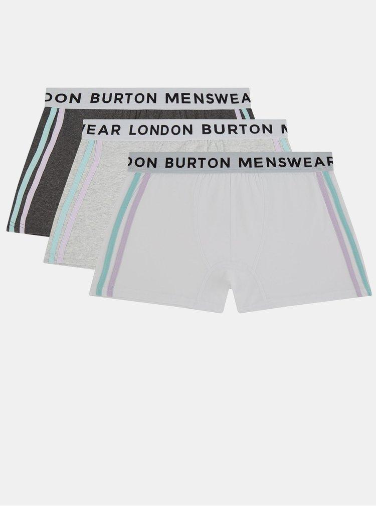 Boxeri mulati pentru barbati Burton Menswear London - crem, gri