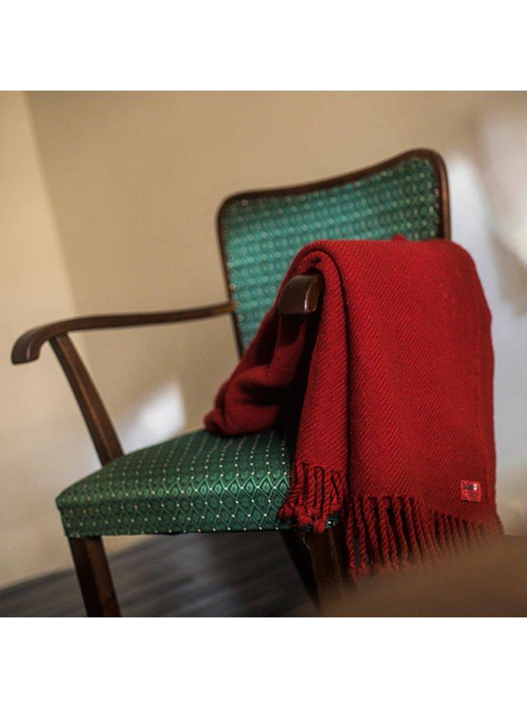 Vlněná deka Perelika XXII červená Balkanova