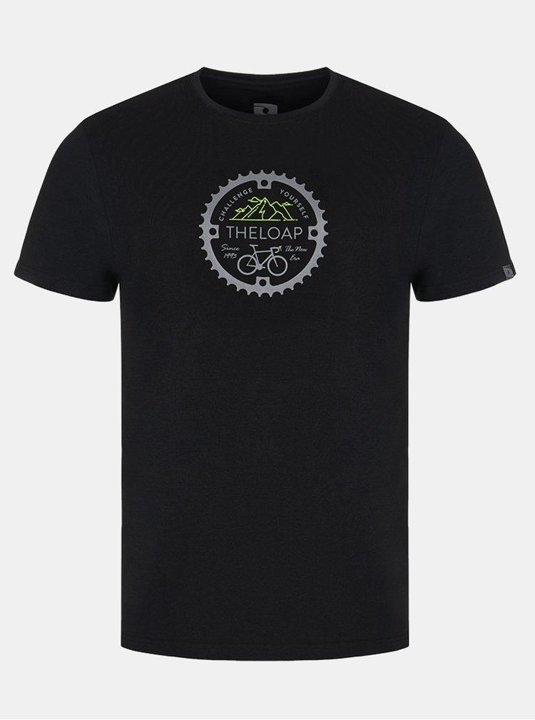 Černé pánské tričko  LOAP Alger