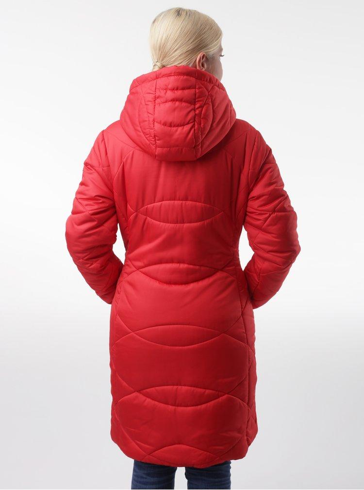 Červený dámský prošívaný kabát LOAP Talisa