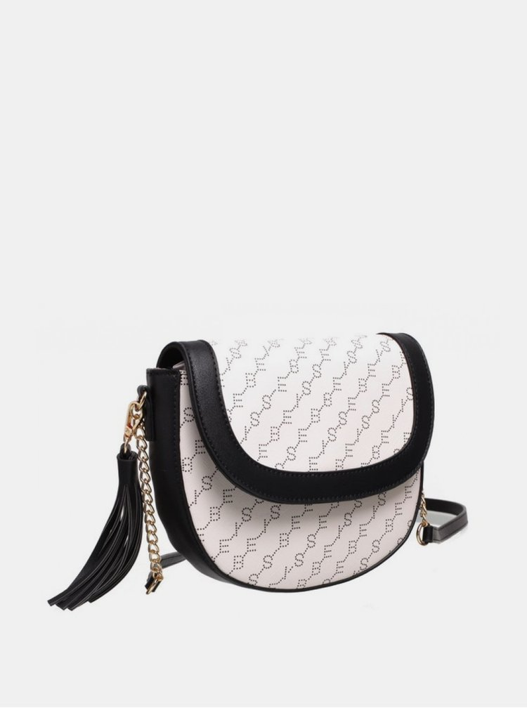 Bílá vzorovaná crossbody kabelka Bessie London