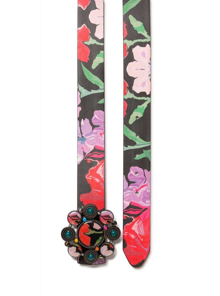 Desigual dámský oboustranný pásek Bel Sporty Flower Reversible