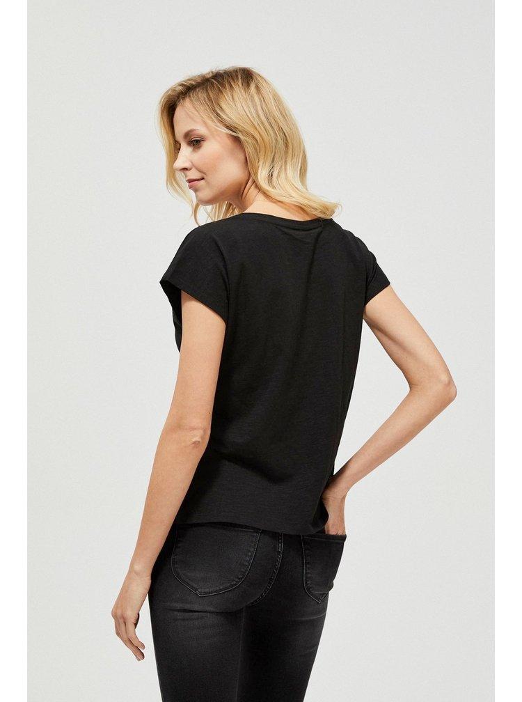 Moodo černé tričko s kočkou