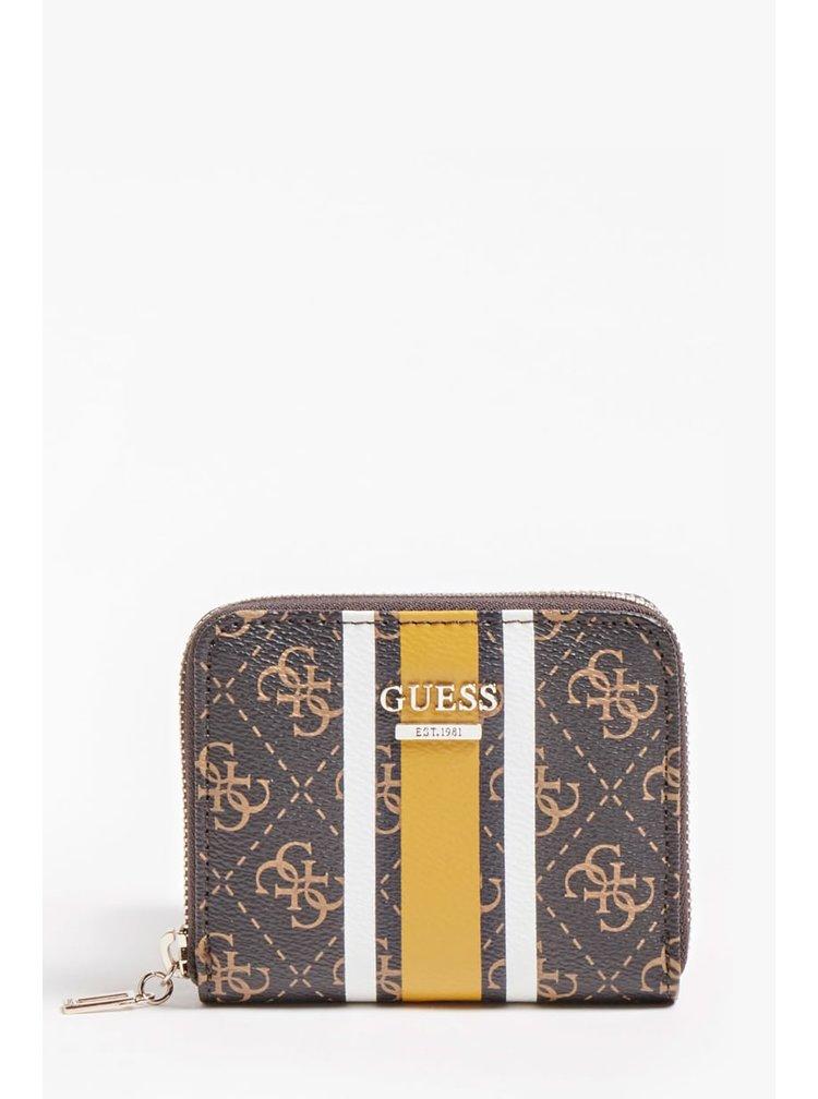 Guess hnědá malá peněženka Jensen 4G Logo Wallet