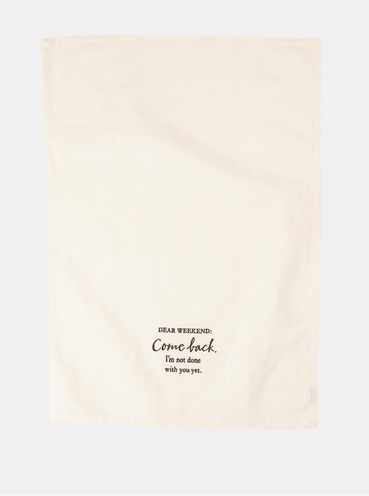 Krémová utěrka s nápisem Clayre & Eef