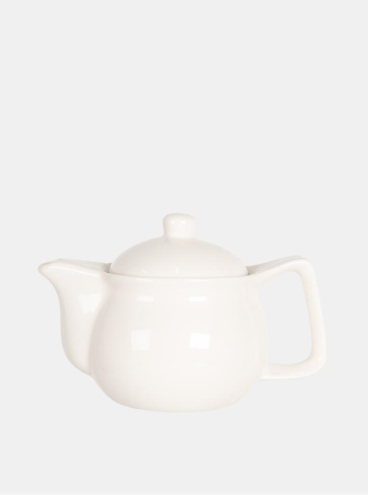 Bílá konvice na čaj Clayre & Eef