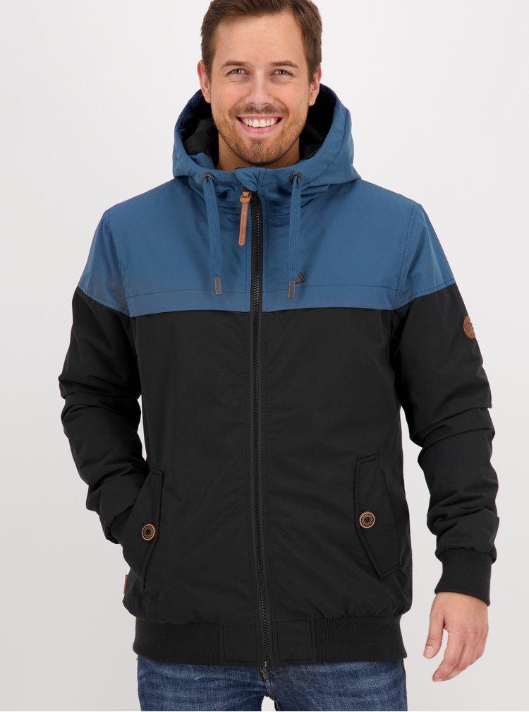 Modro-černá pánská zimní bunda Alife and Kickin