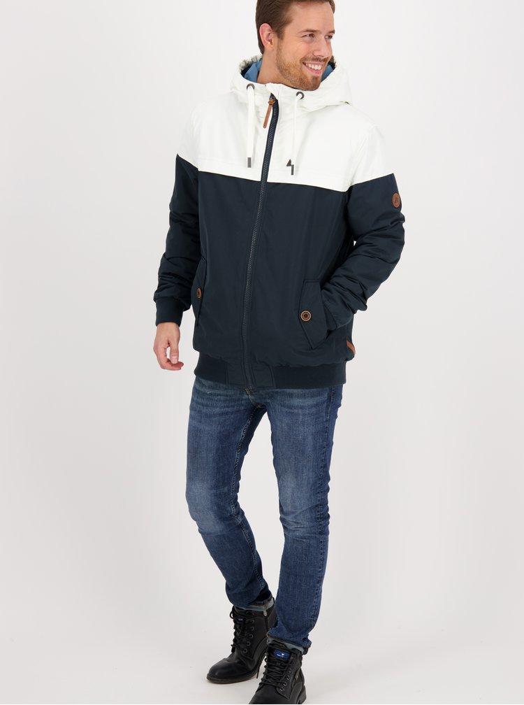 Bílo-modrá pánská zimní bunda Alife and Kickin