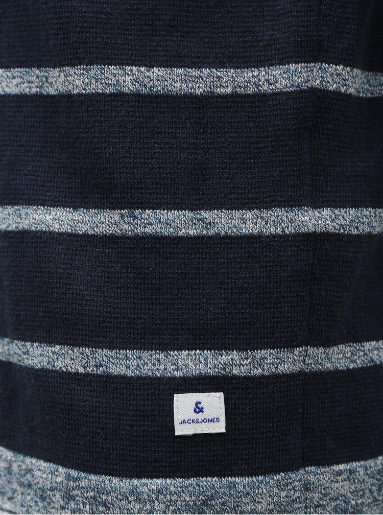 Tmavě modrý pruhovaný svetr Jack & Jones Jeans
