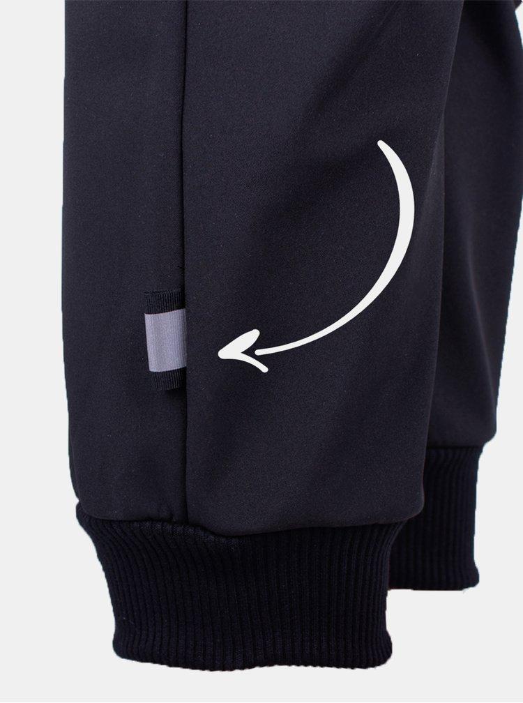 Černé klučičí softshellové kalhoty Unuo