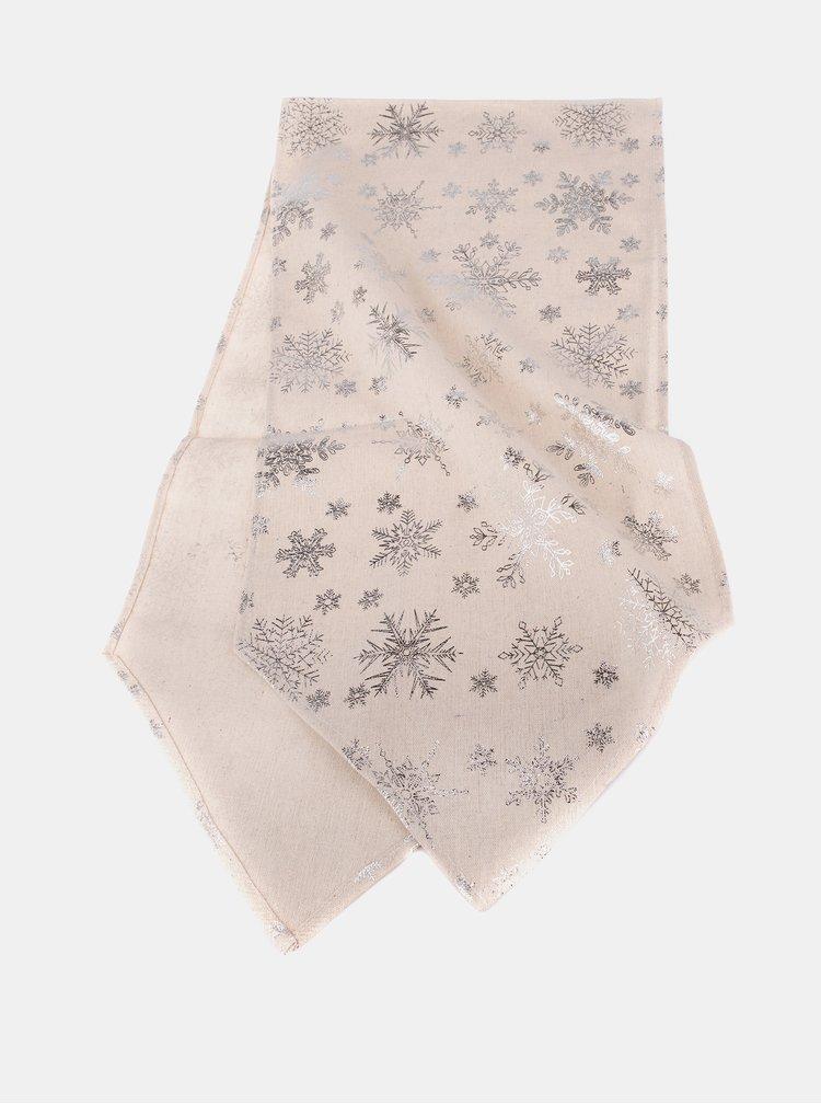 Krémový běhoun s vánočním motivem Dakls