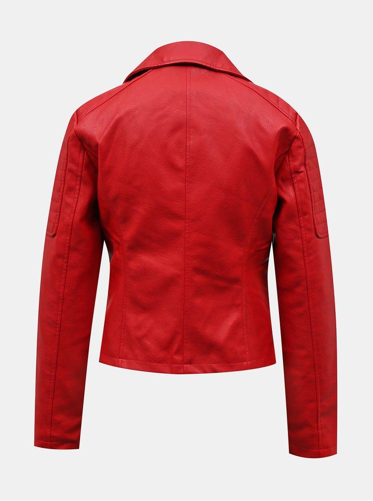 Jachete din piele naturala si sintetica pentru femei Noisy May - rosu