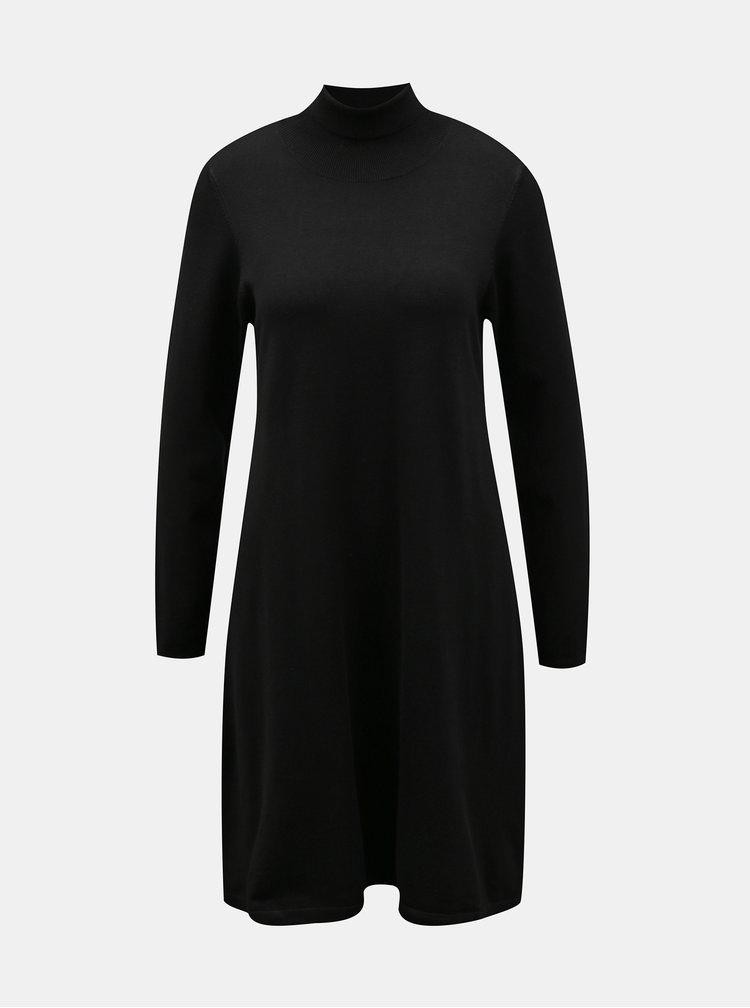 Černé svetrové šaty VERO MODA Glory