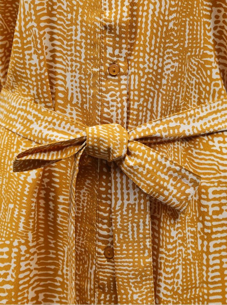 Žluté vzorované košilové šaty VERO MODA Vibe