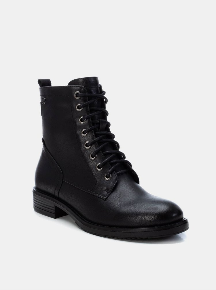 Černé dámské kotníkové boty Xti