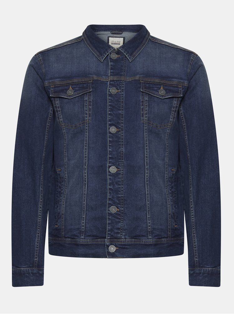 Jachete subtire pentru barbati Blend - albastru inchis