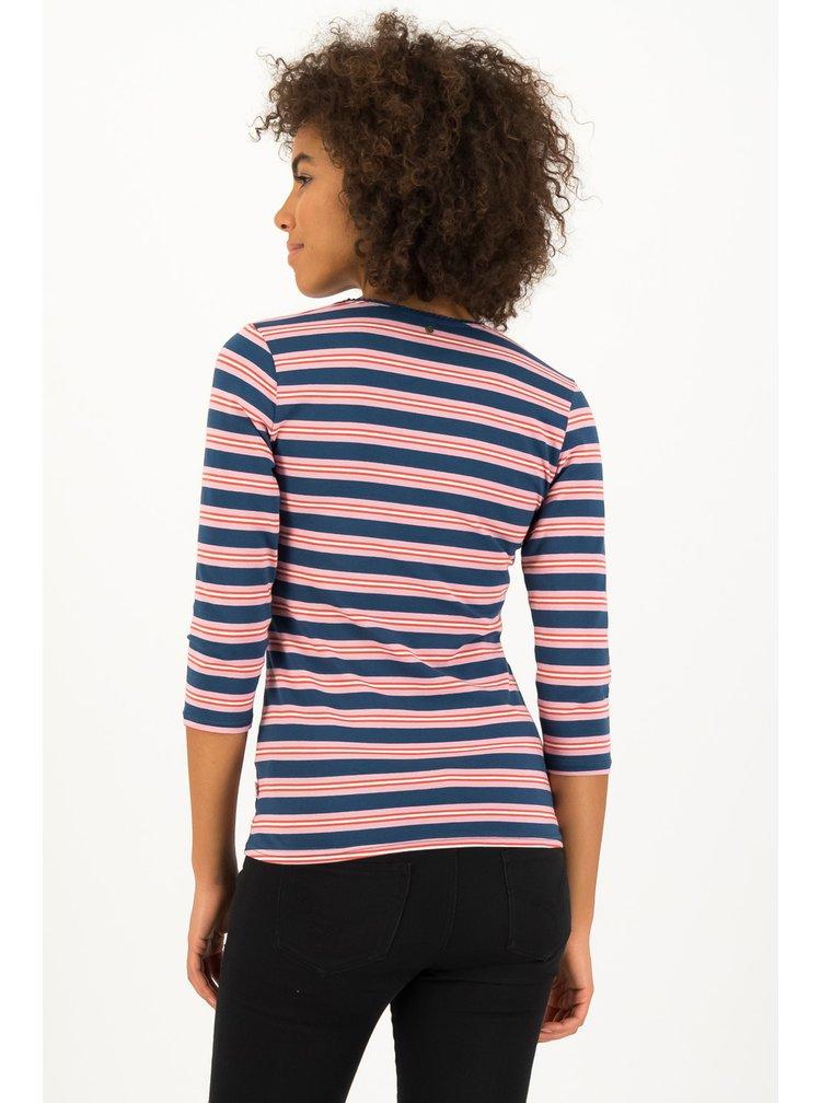 Blutsgeschwister pruhované tričko Majolica Blue Stripes