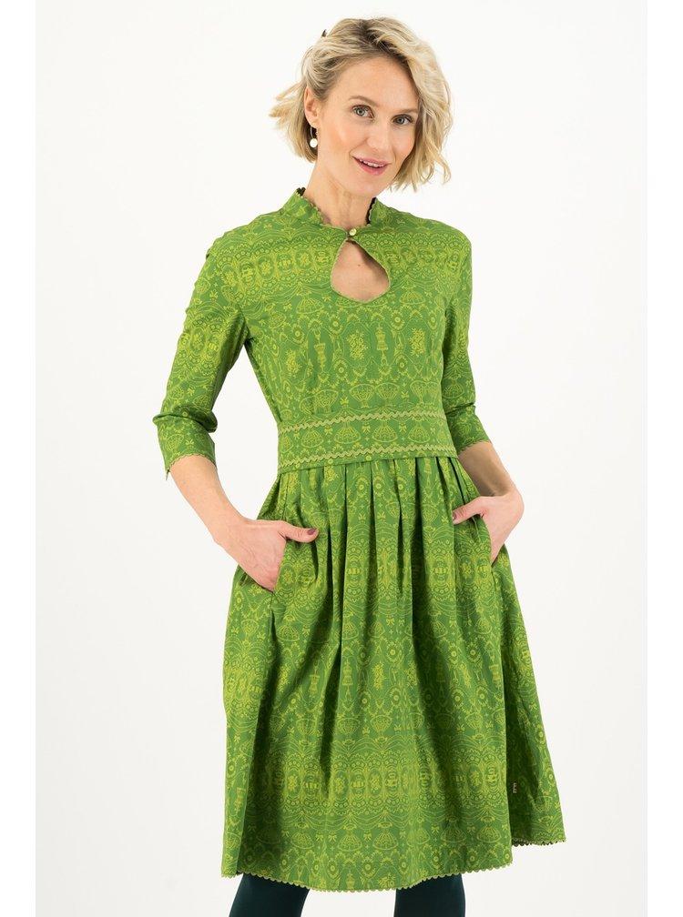 Blutsgeschwister zelené šaty Beau Sew