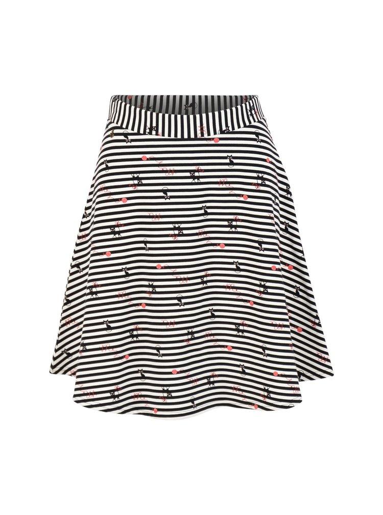 Blutsgeschwister bílé sukně Spin the Stripes