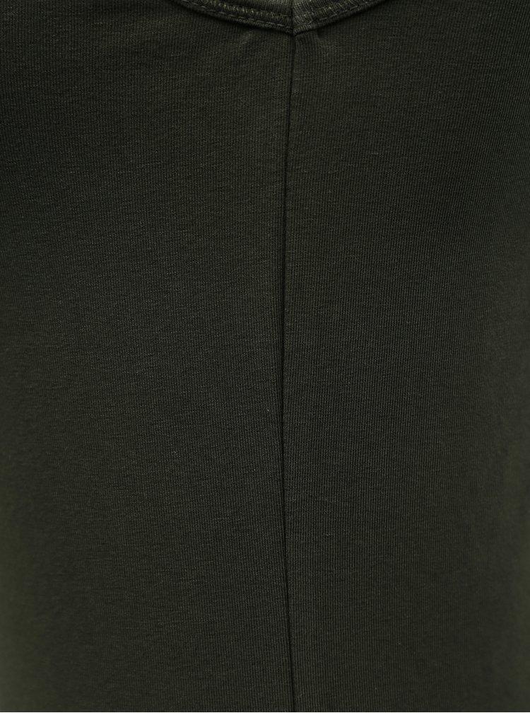 Khaki dlouhé basic tílko ONLY