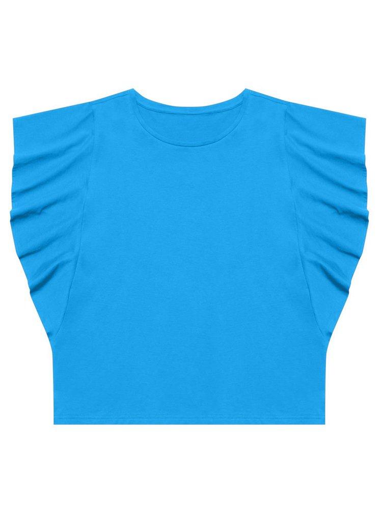 Moodo modré tričko s volány