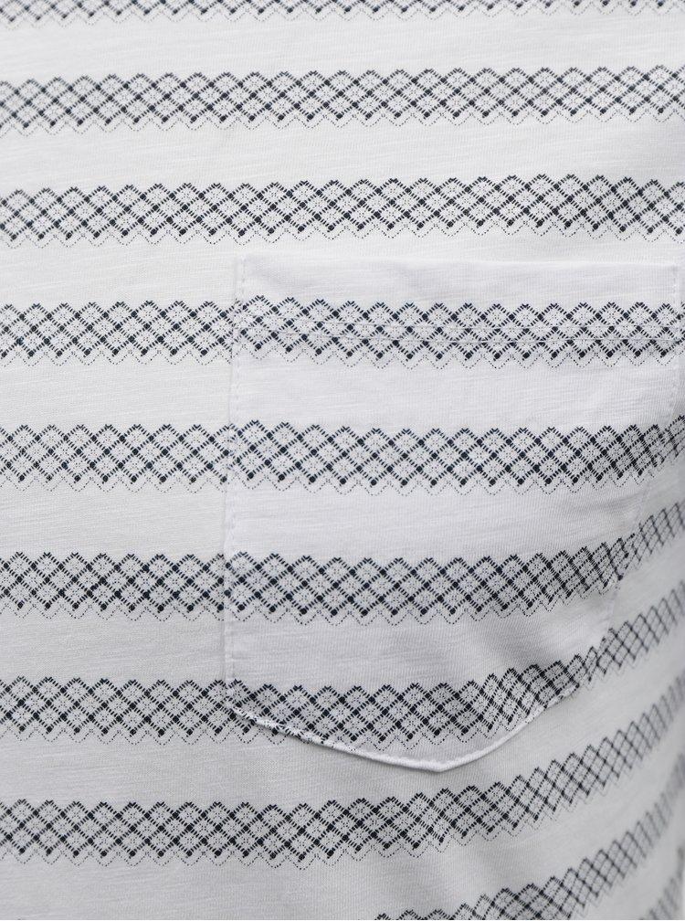 Tricouri pentru barbati Blend - alb, albastru inchis