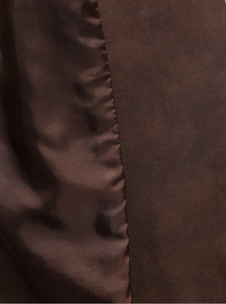 Hnědý křivák v semišové úpravě ONLY