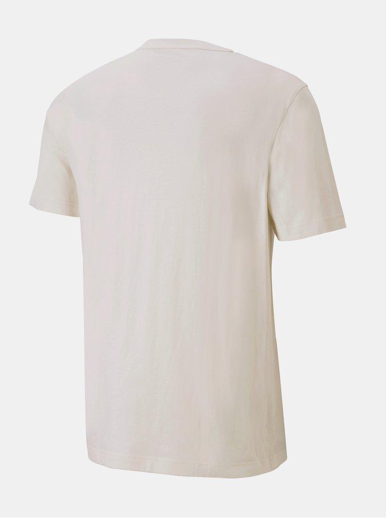 Krémové pánské tričko s potiskem Puma