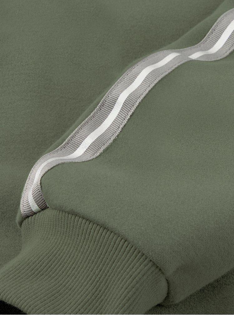 Khaki pánská mikina s kapucí Puma