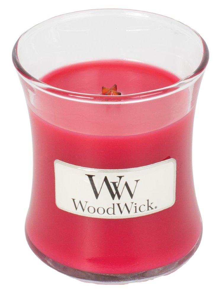 WoodWick vonná svíčka Radish and Rhubarb malá váza