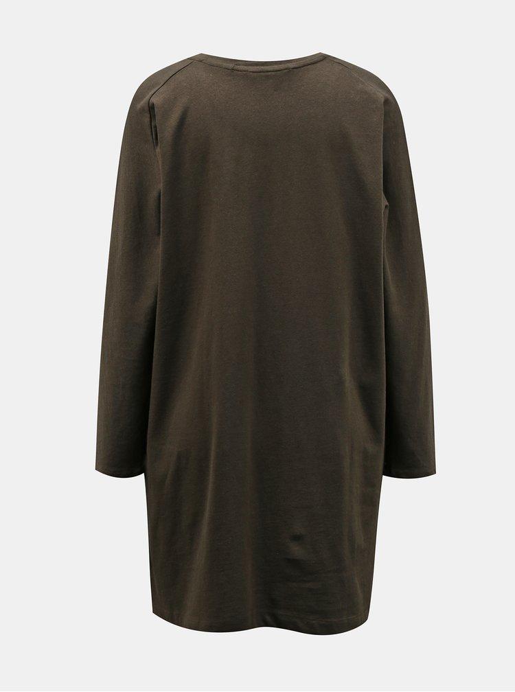Khaki volné šaty Miss Selfridge