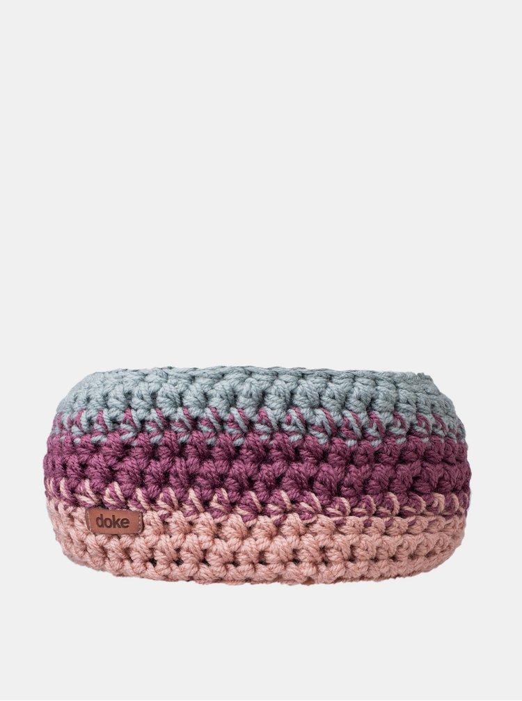 Růžovo-fialová dámská čelenka DOKE