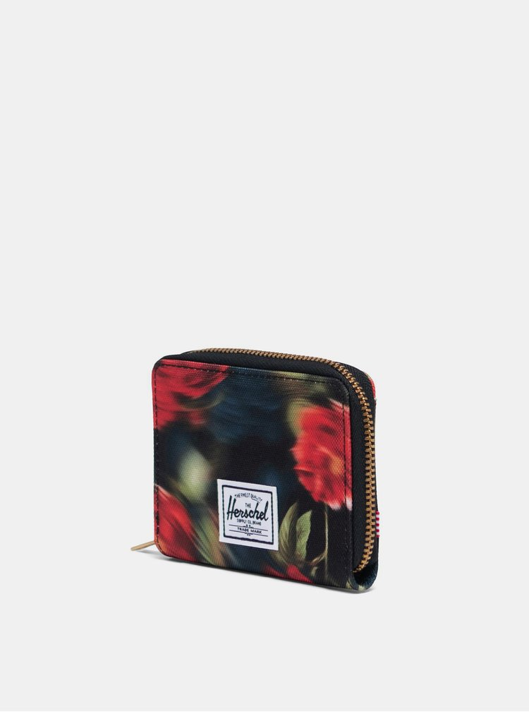 Černá vzorovaná peněženka Herschel Supply