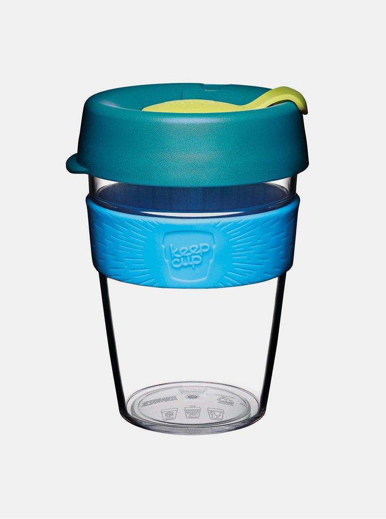 Petrolejový plastový cestovní hrnek KeepCup Clear Ozone medium 340 ml