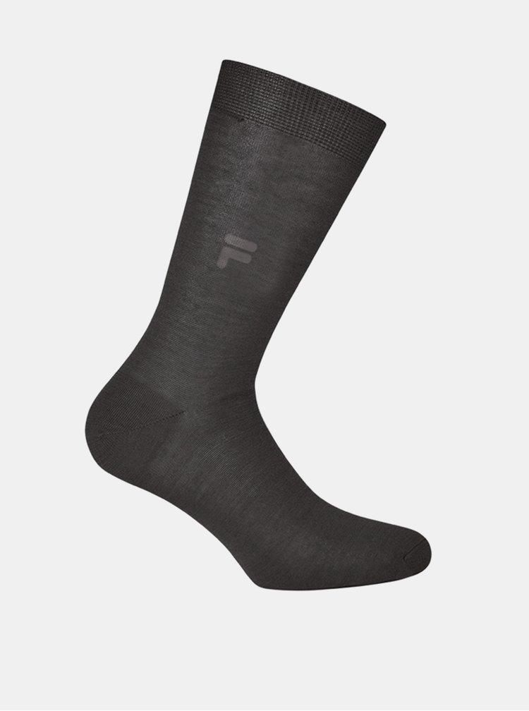 Tmavě šedé pánské ponožky FILA